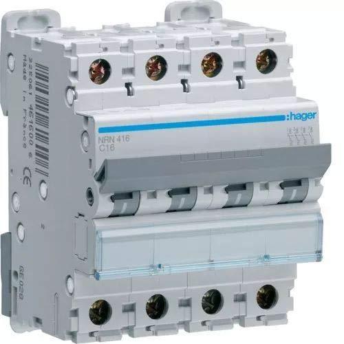 Hager–416RRN–Nr MCB Serie Schalter, 4p, 16A, Kurve C, 25kA