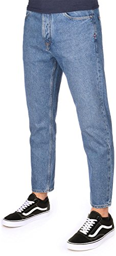 Tommy Jeans Hombre Relaxed Cropped Randy Jeans, Azul (Tommy Jeans Mid Blue Rigid 911), W29/L36