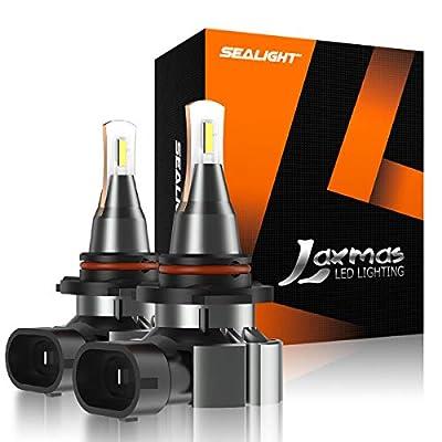 SEALIGHT 9006 LED Fog Light Bulb, HB4 Fog Light Bulbs, 5000 Lumens 6000k Extremely Bright Xenon White, Halogen Fog Bulb Replacement, Pack of 2