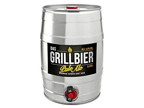 DAS GRILLBIER Bier Geschenk für Männer Vatertag Bierfass 5l Pale Ale Handmade German Craft Beer Biergeschenk zur Grill-Party