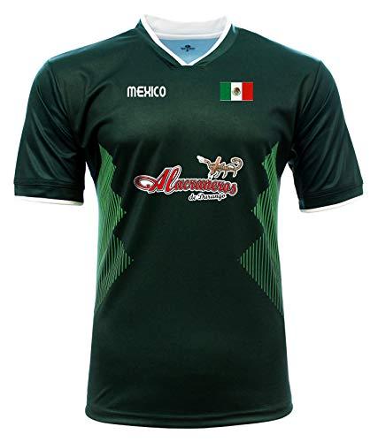 Jersey Mexico Alacraneros de Durango 100% Polyester_Made in Mexico (X-Large) Green