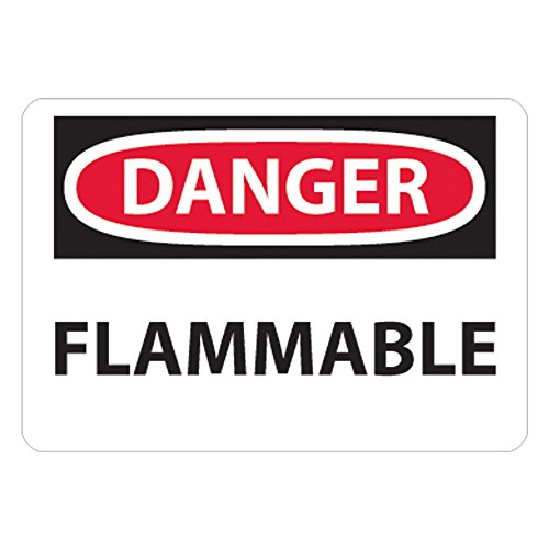 "UltraSource Plastic Danger, Flammable Sign, 10"" Width x 7"" Height"