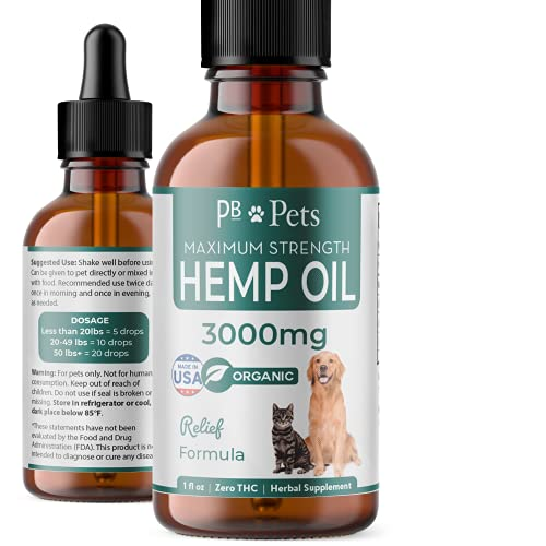 PB Pets Hemp Oil for Dogs and Cats