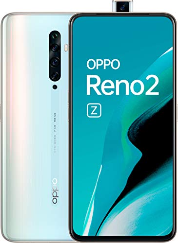 OPPO Reno 2z - Smartphone de 6.5' AMOLED, 4G Dual Sim, 8GB, 128GB, Helio P90 Octalcore, cámara trasera 48 MP + 8 MP (gran angular) + 2 MP + 2 MP, 4.000 mAh, Android 9, Blanco (Sky White)
