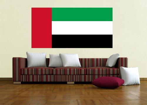Kiwistar Wandtattoo Sticker Fahne Flagge Aufkleber Vereinigte Arabische Emirate 60 x 30cm