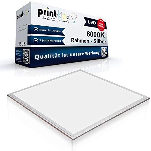 LED Panel Ultraslim 30x30cm Deckenleuchte Lampe Flächenleuchte 6000K-Kaltweiß 12W 900 LM Weiß Rahmen - Office Plus Serie