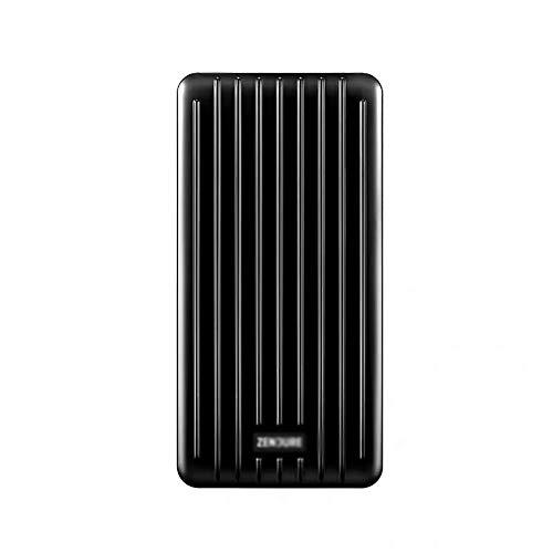 JIEXIAO 10000Mah Power Bank, Ultra-Thin 18WPD Fast Charging Flash Charging Mobile Power Dual Port Large Capacity,Black