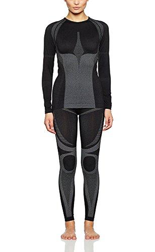 Medico Seamless Kit sous-vêtement, Fonction Professionnel de qualité, Coutures discrètes sous-vêtement de Ski, Moto, Lingerie sous-vêtements Thermiques, élastique FR:46/48 Noir