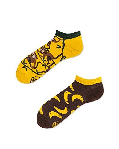 Verrückte Sneaker Socken - Fun Socks - Unisex, Damen, Herren - Monkey Business - Affen und Bananen 35-38