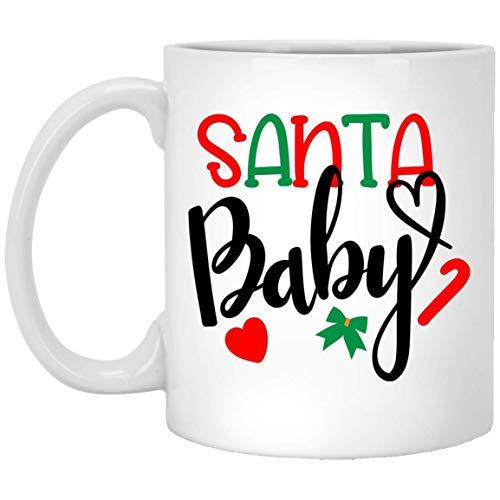 Divertidas tazas navideñas de Papá Noel, los mejores regalos de Navidad para amigos familiares compañeros de café blanco taza de 325 ml
