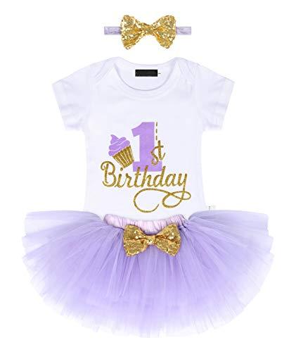 Jurebecia Vestido para niñas Niña bebé Vestido cumpleaños Bowknot Boda Princesa Tutu...