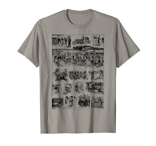 Bicicleta ciclista Racing Tour Ciclismo Regalo de la raza vintage Francia Camiseta
