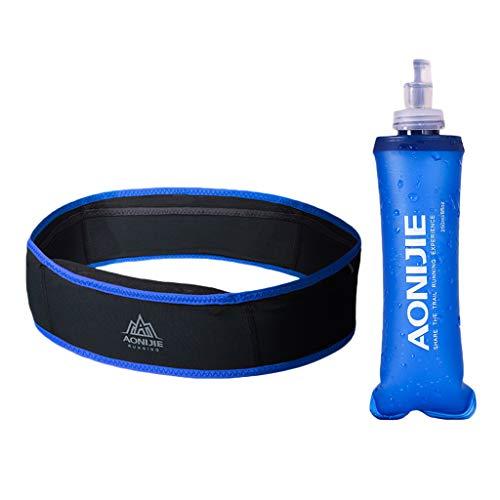 lahomia Durable 250ml Botella de Agua Suave Funcionamiento Bum Riñonera Riñonera Bolso Que Acampa - Azul S