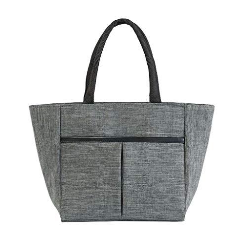 Bolsa de almuerzo portátil bolsa de almacenamiento de picnic al aire libre Bolsa de Bento Bolsa de picnic,película de aluminio dentro de almacenamiento en frío fresco,diseño de bolsillo fronta