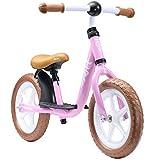 LÖWENRAD Bicicleta sin Pedales para niños y niñas a Partir de 3 - 4 año, Bici 12' Ligero (3KG) con sillín y manubrio Regulable, Rosa
