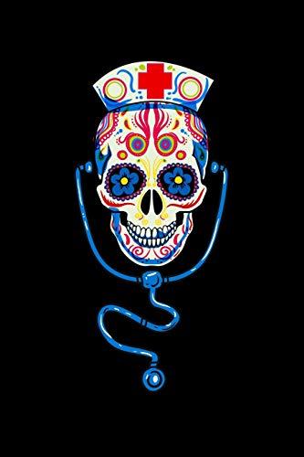 Sugar Skull Nurse: KALENDER 2020/2021 mit Monatsplaner/Wochenansicht mit Notizen und Aufgaben Feld!  Für Neujahresvorsätze Halloween Horrorfilm, Kino, ... I Geschenk für Horror Grusel Zombie