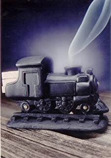 Black Steam Engine Burner With Pinon Natural Wood Incense - Incienso De Santa Fe