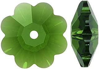 SWAROVSKI Crystal, 3700 Flower Margarita Beads 8mm, 12 Pieces, Fern Green