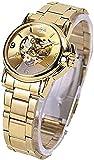 ACONAG Preciosos Relojes de Lujo Marca de Lujo Moda de Mujer Automática Hollow out Relk Lady' s Dress Relojes (Color : Gold)