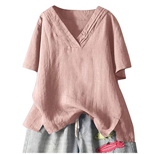 Lisusut Tシャツ レディース ワイシャツ レディース 事務服 ブラウス レディース 七分袖 オフィス ビジネス シャツ レディース 就活 通勤 OL 形状記憶 ストレッチ 7分袖 ブラウスシャツ レディース レギュラー衿 白 黒 ピンク (XL/ピンク)