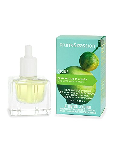 Cucina Perfume Refill for Electric Fragrance Diffuser 0.85 Fl. Oz. - Lime Zest and Cypress