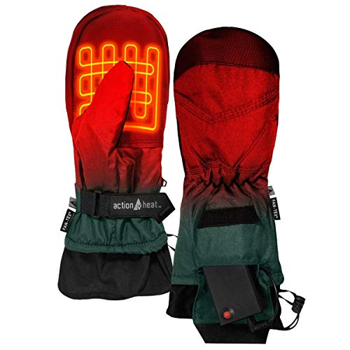 ActionHeat AA Battery Heated Mittens for Men, Women – Softshell Mittens w/Adjustable Gauntlet, Textured Grip