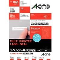 エーワン A-One ラベルシール[プリンタ兼用] A4判 10シート(840片) ホワイト 72284 / 5セット