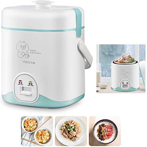 Mini Reiskocher Reiskocher (1,2 l / 200W / 220V) Warmhaltefunktion, von Premium-Qualität Innentopf, Spachtel und Messbecher Reis für bis zu 3 Personen