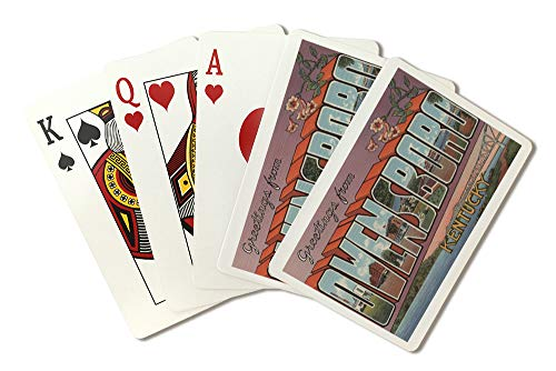 Owensboro, Kentucky, Large Letter Scenes (Playing Card Deck, 52 Card Poker Size with Jokers)