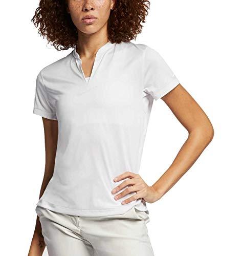 Nike Damen TechKnit Cool Poloshirt, White/(White), L