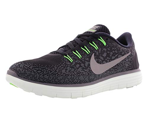 Nike Womens Free Rn Distance Low Top Lace Up Running Sneaker, Green, Size 6.0