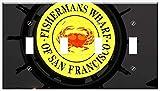 Switch Plate 4 Gang Toggle - Fishermans Wharf Francisco San Pier California