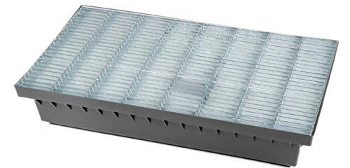 Schuhabstreifer Fußabtreter Fußmatte Abtreter Gitterrost Stahlrost verzinkt 58x37x10cm