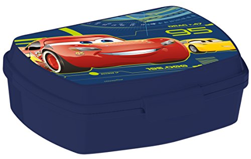 ALMACENESADAN, 0415, Sandwichera Rectangular Multicolor Disney Cars 3, 15x10x5,5 cms