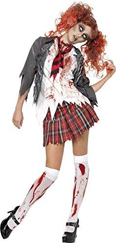 Smiffy's - Costume travestimento da donna per Halloween, zombi con divisa scuola