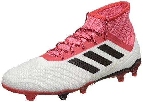 adidas Unisex Predator 18.2 FG CM7666 Fußballschuhe, Weiß Footwear White Core Black Real Coral, 43 1/3 EU