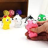 DragonPad Squishy Spielzeug Kreative Vent Toys Pop Out Augen Puppe mit Schlüsselanhänger gequetscht Spielzeug Stress Angst Reducer zufällige Farbe 1 STÜCK