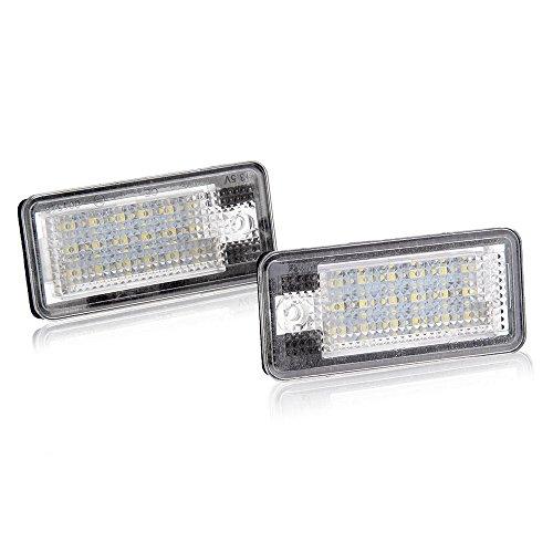 Sonline 2x 18 SMD LED plato blanco luz indicadora de la lampara