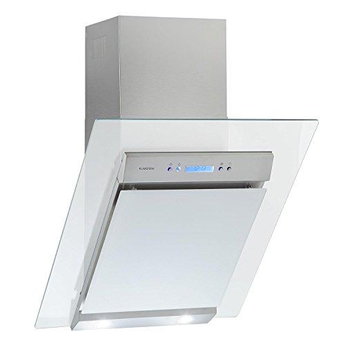 Klarstein Skycook • Campana extractora • Extractor de Cocina • Extracción/Ventilación • 3 Niveles • 640 m³/h • Acero INOX. • Frontal de Cristal • Temporizador • Montaje en Pared • 60 cm • Plateado