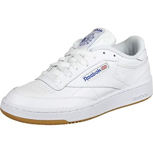 Reebok Club C 85, Sneaker Hombre, Blanco (INT White/Royal Gum), 41 EU