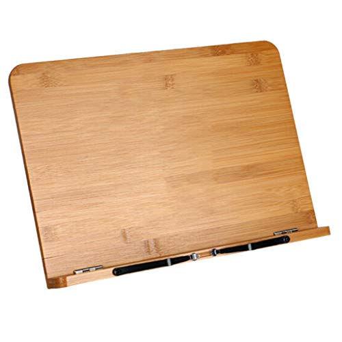 Milageto Reading Rest Cookbook Cook Recipe Kitchen Book Holder Stand Bookrest Bamboo - 38x28cm