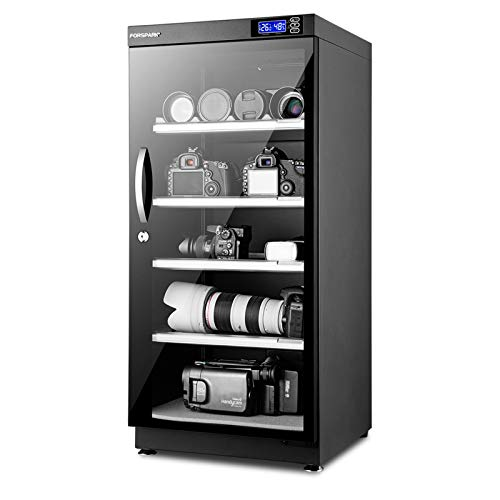 FORSPARK Camera Dehumidifying Dry Cabinet |15W 125L-Noiseless & Energy Saving - for Camera Lens & Electronic Equipment Storage