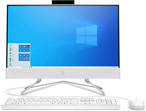 HP All-in-One 22-df0007ns - Ordenador de sobremesa de 21.5' (AMD Ryzen 3 3250U, 8 GB DDR4-SDRAM, 256 GB SSD, Windows 10 Home), blanco