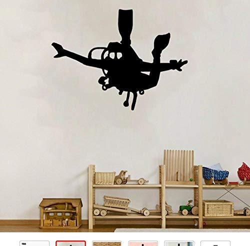 Muursticker huisdecoratie voor woonkamer muurstickers Vinyl Art muurstickers lijm Extreme Sport Duiken Zwembad 49x 36cm