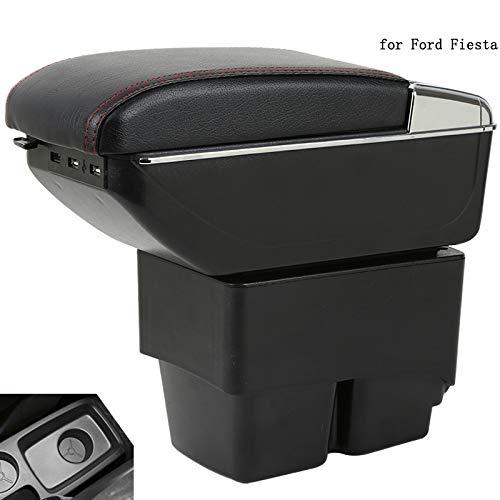 Per Ford Fiesta Bracciolo Box Fiesta MK6 7 Universale Auto Bracciolo Centrale Scatola di Archiviazione Coppa Titolare Posacenere Modifica Accessori