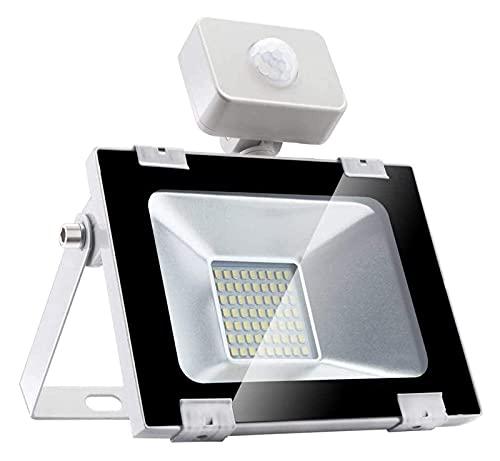 MFLASMF Proyector LED Proyector LED con Movimiento | Foco LED IP 67 a Prueba de Agua con Sensor PIR | Luz de Seguridad Exterior súper Brillante para jardín, Garaje, Luces de Seguridad de