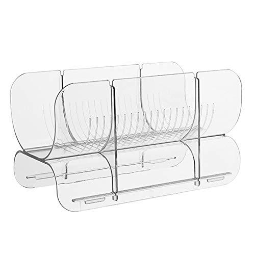 WANGSUN - Botellero de plástico, apilable, estante de almacenamiento para botellas de vino o de escritorio, apto para encimeras de cocina y bar