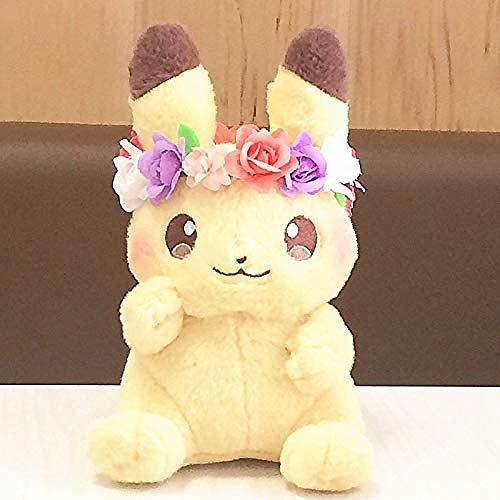 NC88 Muñeca de peluche de acción de peluche de juguete corona de Pascua Bikachuib muñecas regalos de cumpleaños para niños
