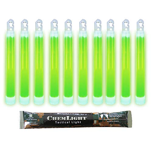 Cyalume Leuchtstab 15 cm, Original Militärische ChemLight Lightsticks In Grün (20-er Pack), Hohe Brenndauer Von 12 Stunden, 100% Konform Mit Den NATO-Spezifikationen