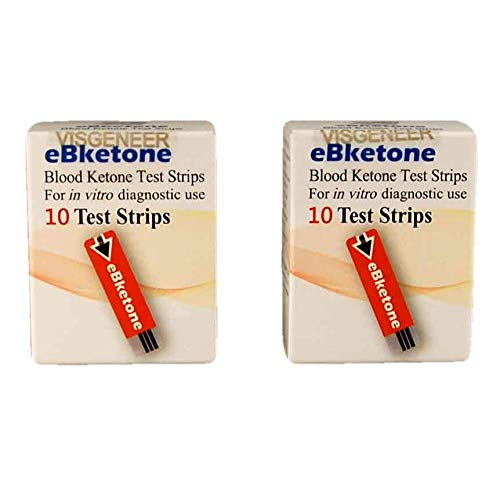 20tiras para medición de la cetona en sangre, compatibles con el medidor eBketone